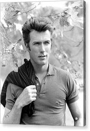 Clint Eastwood, 1961 Acrylic Print by Everett