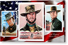 Clint Eastwood American Legend 2nd Ver Acrylic Print