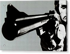 Clint Eastwood Big Gun Acrylic Print by Tony Rubino