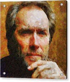 Clint Eastwood Acrylic Print by Elizabeth Coats