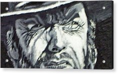 Acrylic Print featuring the painting Clint  Eastwood by Paul Weerasekera