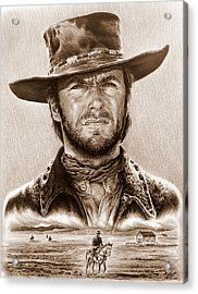 Clint Eastwood The Stranger Acrylic Print