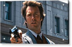 Clint Eastwood With 44 Magnum Dirty Harry 1971 Acrylic Print