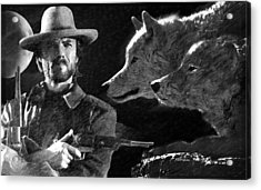 Clint Eastwood With Wolves Acrylic Print