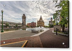 Acrylic Print featuring the photograph Clinton Square by Everet Regal