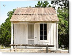 Acrylic Print featuring the photograph Clint's Cabin - Texas - Close-up by Ray Shrewsberry