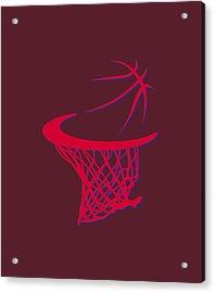 Clippers Basketball Hoop Acrylic Print by Joe Hamilton