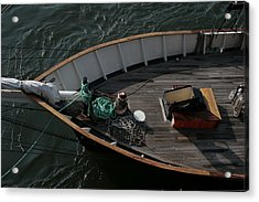 Clipper's Bow Acrylic Print by Christopher Kirby