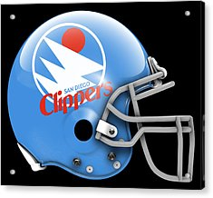 Clippers What If Its Football Acrylic Print by Joe Hamilton