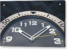 Clock Face Acrylic Print by Rob Hans