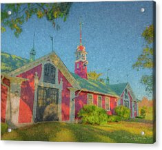 David Ames Clock Farm Acrylic Print
