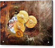 Clock Girl Acrylic Print