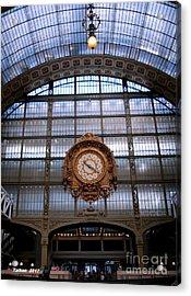 Clock In Orsay By Taikan Acrylic Print