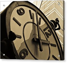 Clock Acrylic Print by Roberto Bravo