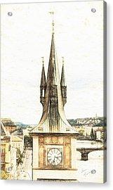 Clock Tower Acrylic Print by Diane Macdonald