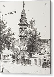 Clock Tower  Hay On Wye Acrylic Print by Vincent Alexander Booth