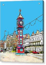 Clock Tower Acrylic Print by Paul Hemmings