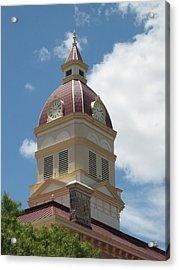 Clock Tower Acrylic Print by Rebecca Shupp
