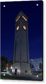 Clock Tower Spokane W A Acrylic Print