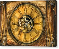 Clockmaker - Clock Works Acrylic Print by Mike Savad