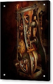 Clockmaker - Careful I Bite Acrylic Print by Mike Savad