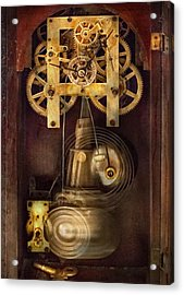 Clockmaker - The Mechanism  Acrylic Print by Mike Savad