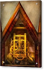 Clocksmith - Clockwork  Acrylic Print by Mike Savad