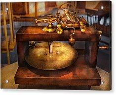 Clocksmith - The Gear Cutting Machine  Acrylic Print by Mike Savad