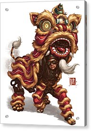 Clockwork Liondancer Acrylic Print by James Ng