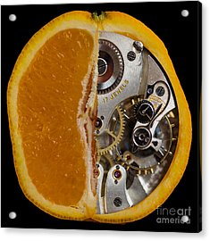 Acrylic Print featuring the photograph Clockwork Orange by Brian Roscorla