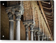 Acrylic Print featuring the photograph Cloister Columns, Couvent Des Jacobins by Elena Elisseeva