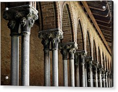 Acrylic Print featuring the photograph Cloister Detail, Couvent Des Jacobins by Elena Elisseeva