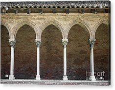 Acrylic Print featuring the photograph Cloister In Couvent Des Jacobins by Elena Elisseeva