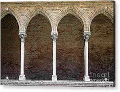 Acrylic Print featuring the photograph Cloister With Arched Colonnade by Elena Elisseeva