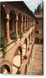 Cloistered Courtyard Acrylic Print by Christiane Schulze Art And Photography