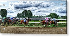 Close Competition Acrylic Print