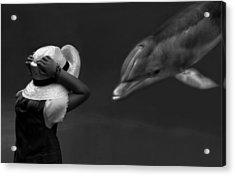 Close Encounter ... Acrylic Print by Yvette Depaepe