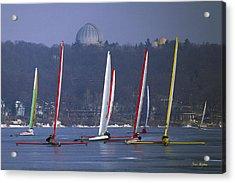 Close Encounters - Lake Geneva Wisconsin Acrylic Print by Bruce Thompson