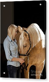 Close Relationship Between Humans And Animals Acrylic Print by Wolfgang Steiner