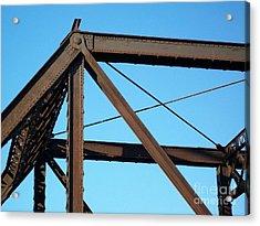 Close Up Bridge Acrylic Print by Marsha Heiken