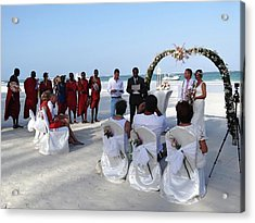 Close Up Kenya Baach Wedding Acrylic Print