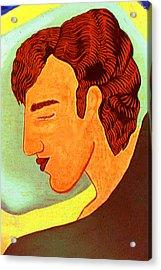 Close Up Man Sleepng Acrylic Print by Paul Knotter
