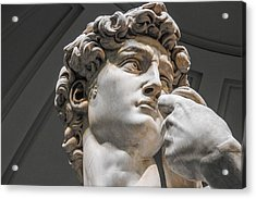 Close Up Of David By Michelangelo Acrylic Print