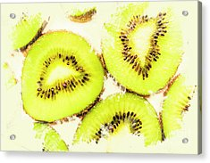 Close Up Of Kiwi Slices Acrylic Print