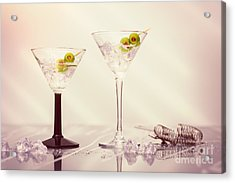 Close Up Of Martini Cocktails Acrylic Print