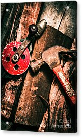 Close Up Of Old Tools Acrylic Print