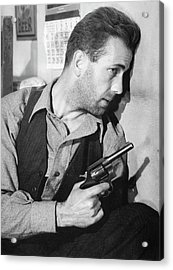 Close-up Up Of Humphrey Bogart As Duke Mantee With Gun The Petrified Forest 1936 Acrylic Print