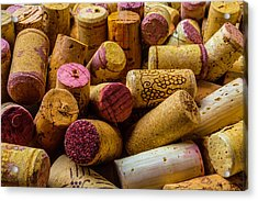 Close Up Wine Corks Acrylic Print by Garry Gay