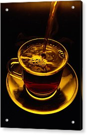 Close View Of Coffee Being Poured Acrylic Print by Sam Abell