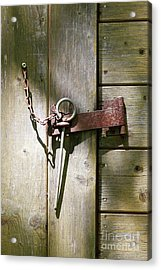 Closed Door - Safety Pin Acrylic Print by Michal Boubin